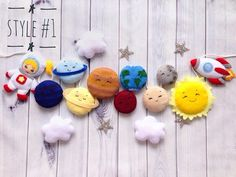 The Effective Pictures We Offer You About Diy Felt Garland christmas A quality picture can tell you Felt Banner, Felt Garland, Diy Garland, Felt Diy, Felt Crafts, Diy Crafts, Christening Gifts For Girls, Astronaut Party, Space Themed Nursery