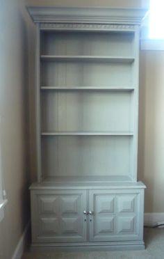 Repurposed gun cabinet!