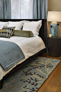 If you are a fan of blue-gray and chocolate, consider putting taupe on your walls. modern #bedroom by Rachel Reider Interiors