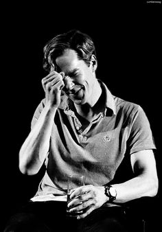 Benedict Cumberbatch in black and white