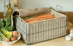 Storage for root vegetables outside of fridge