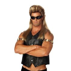 Look just like Dog the Bounty Hunter with this wig. Mullet style blonde wig is perfect for your Dog the Bounty Hunter costume. One Dog the Bounty Hunter wig SKU: Brown To Blonde, Blonde Wig, Dark Blonde, Mens Mullet, Mullet Wig, Biker Costume, Hunter Costume, Apple Costume, Dog The Bounty Hunter