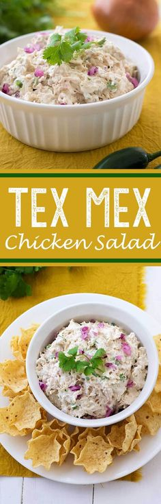 This easy Avocado Ranch Chicken Salad is loaded with flavor (contains no mayonnaise) for a deliciously lighter version for a low cal lunch or light dinner! Lunch Recipes, Mexican Food Recipes, Cooking Recipes, Healthy Recipes, My Favorite Food, Favorite Recipes, Bbq, Chicken Salad Recipes, Chicken Salads