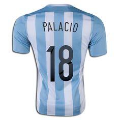 Rodrigo Palacio 18 2015 Copa America Argentina Home Soccer Jersey