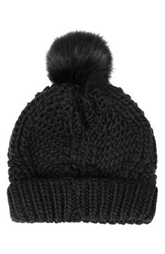 cable knit pompom beanie / topshop @Nordstrom