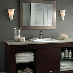 White Bathrooms Bathroom Sconces White And Blue