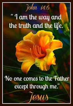 Jesus said.....John 14:6