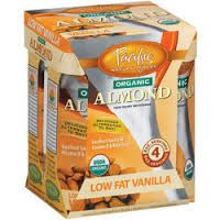 Grocery, Packaged: Pacific Natural Low Fat Almond Beverage in Vanilla, 4 pack, $3.99