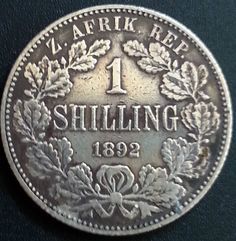 1892 1 Shilling Paul Kruger RARE Key Date ZAR Silver Coin South Africa Key Dates, World Coins, African Animals, Handmade Books, Rare Coins, African History, Goods And Services, Coin Collecting, The Good Old Days
