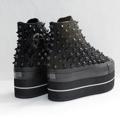 Studded Cutom converse heel - FANTAsY MONANA. $245.00, via Etsy.