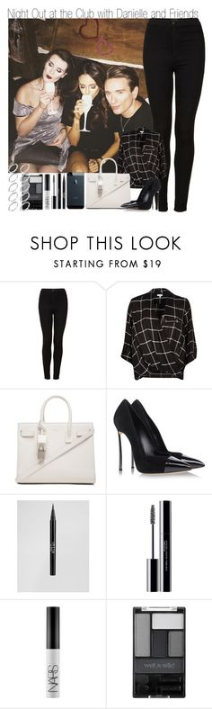 """Night Out at the Club with Danielle and Friends"" by elise-22 ❤ liked on Polyvore featuring Topshop, River Island, Yves Saint Laurent, Casadei, Stila, shu uemura, NARS Cosmetics, Wet n Wild and ASOS"