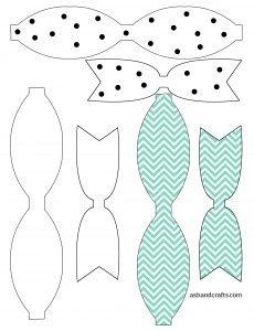 Printable Paper Bow Template   ashandcrafts.com