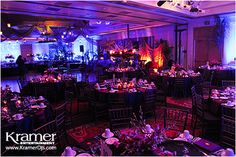This is our Reception Venue again, set up for a wedding with uplighting.