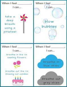 Ready to Use Coping Skills Cue Cards - Calming Version