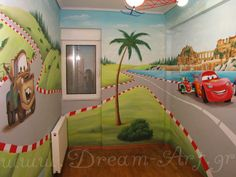 Ζωγραφική σε όλο το παιδικό δωμάτιο cars mcqueen_Dream-Art