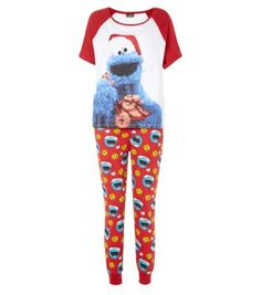 Teens Christmas Cookie Monster !!! Haha I need these... or any cute pj's