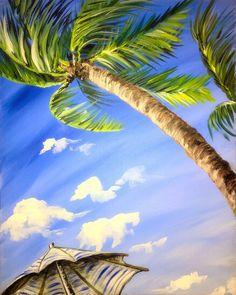 Tropical Sky Gazing {PaintNite ~ 03.2016}