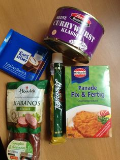 Box #8 Allemagne ===> France Currywurst Riter Sport Panada (for schnitzel) Smoked Würst Bayern Senf