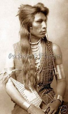 "1890'S PHOTO ""RABBIT TAIL"" SHOSHONE NATIVE AMERICAN INDIAN US U.S. ARMY SCOUT 