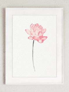 Lotus Watercolor Painting Baby Pink Wall Decor. Kids Nursery Wall Art Print Gift Idea. Baby Girls Room Illustration. Abstract Flower Home Decoration.  Type of paper: Prints up to (42x29,7cm) 11x16 inch size are printed on Archival Acid Free 270g/m2 White Watercolor Fine Art Paper and retains the look of original painting. Larger prints are printed on 200g/m2 White Semi-Glossy Poster Paper.  Colors: Archival high-quality 10-cartridge Canon Lucia Pigment Inks with a droplet size of 4...