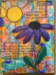 Canvas. Paints,GELLI prints,stamps, modeling paste
