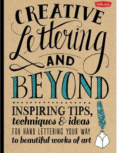 If you'd like to improve your handwriting, this book is filled with inspirational advice + tutorials from professional hand letterers + calligraphers.