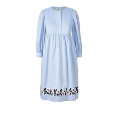 Orla Kiely, Smock Dress, Chambray, Smocking, Spring Summer, Embroidery, Summer Dresses, Pattern, Cotton