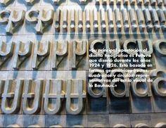 El diseño inicial de Renner incluía  varios caracteres alternativos construi-dos  geométricamente con formas  inusuales (a...