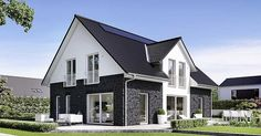 Viebrockhaus Maxime 400 - The all-rounder for all situations, # . Nordic Home, Facade House, Sloped Ceiling, Modern Exterior, Modern Luxury, Future House, Beautiful Homes, House Plans, New Homes