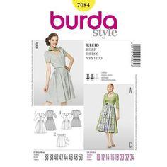 Burda 7084 Women's Dress 10 - 24   Spotlight Australia
