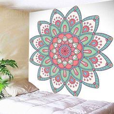 Buy Mandala Wall Hanging Floral Print Tapestry, sale ends soon. Be inspired: enjoy affordable quality shopping at Gearbest! Mandala Art, Mandala Drawing, Mandala Painting, Mandala On Wall, Mural Art, Wall Murals, Wall Art, Motif Floral, Floral Prints