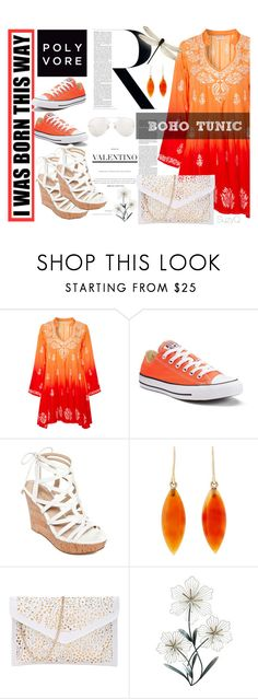 """""""BOHO TUNIC"""" by polyvore-suzyq ❤ liked on Polyvore featuring Ultimate, Juliet Dunn, Converse, GUESS and Linda Farrow"""