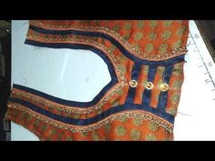 Easy blouse designs cutting and sttiching 2017 Choli Blouse Design, Simple Blouse Designs, Saree Blouse Neck Designs, Choli Designs, Blouse Neck Patterns, Patch Design, Stitching, Youtube, Salwar Kameez