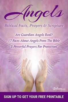 "Get your free guide to angels with biblical facts prayers and scripture! ""When I first studied how angels interact with believers all I could say was Wow! Thank you Father for these powerful gifts to help Your people! Prayer Scriptures, Bible Prayers, Faith Prayer, God Prayer, Prayer Quotes, Power Of Prayer, Bible Verses Quotes, Faith Quotes, Powerful Prayers For Protection"