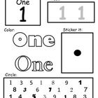 20  Reproducible Black and White Early Math Worksheets – - Two similar variations per number:- One requires tracing skills, the other does not- ...