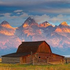 Old Barn in Jackson, Wyoming with the Tetons in the background