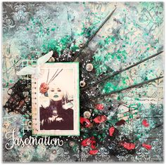 Blue Fern Studios: Two mixed media layouts with video tutorial by Wil...