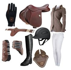 Saddle- Bates Elevation in Havana brown, Animo jacket, Roeckl Two Tone Chester Gloves, Pessoa Belly Guard Girth, IRH Elite Extreme Riding Helmet, Animo white breeches, Equifit D-Teq boots, Ariat Heritage Contour Field, Rambo Grand Prix Ear Net.