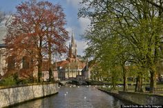 Bruges, Belgium Canals + cobblestone streets + a medieval historic center that's a UNESCO World Heritage Site = awesomeness.