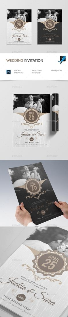 #Wedding #Invitation - Weddings #Cards & Invites Download here: https://graphicriver.net/item/wedding-invitation/19523348?ref=alena994