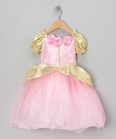 Take a look at this Pink & Gold Fairy-Tale Dress - Toddler & Girls by My Princess Academy on #zulily today!