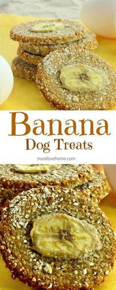 Banana Dog Treats (made with only 3 ingredients!)