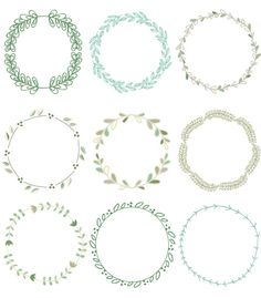 Laurel Wreath Clip Art Images Vector and by FieldandFountain, $7.00
