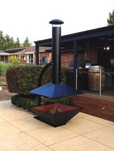ESTIA DESIGN Outdoor Fireplace Caminus 1100. www.estiadesign.com.au