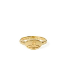 VIVIENNE WESTWOOD VIVIENNE WESTWOOD TILLY RING YELLOW GOLD SIZE XS. #viviennewestwood #