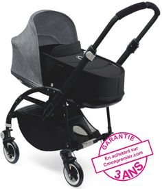Bugaboo-Bee-3-capote-gris-chiné-chassis-black-nacelle-noir