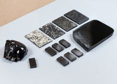 Material samples by Thomas Vailly