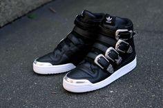 brand new 3b82e fcf81 Adidas Originals Jeremy Scott Forum Hi Black Silver White