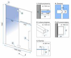 μαύρο μπάνιο : Καμπίνα - πόρτα ντουζιέρας Fargo 110-150cm