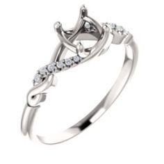 73d339f2f13 123011   Engagement Ring   Semi-set   14K White   Round   5.8 mm